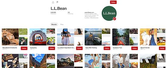 L.L. Bean Pinterest