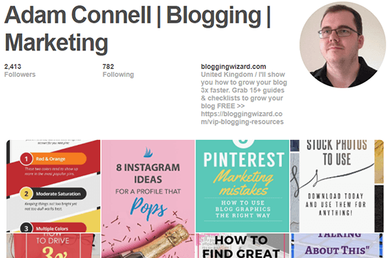 Adam Connell Blogging Pinterest