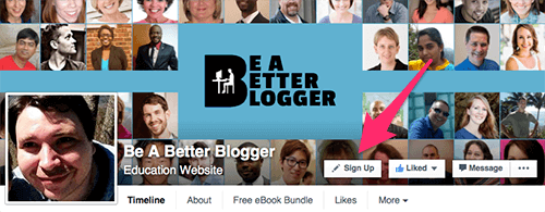 Be A Better Blogger Sign Up