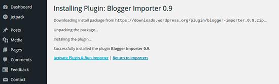 Blogger Importer 0.9