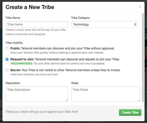 Create Tribe