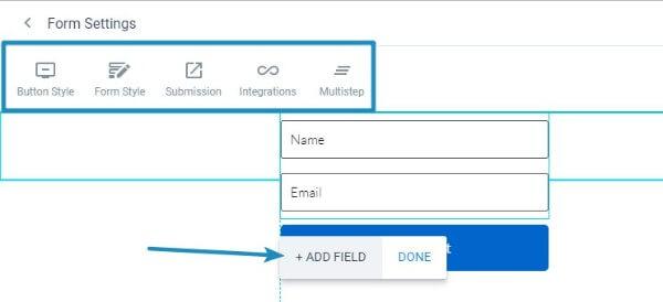 Instapage Form Widget