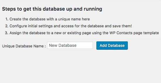 Adding Database