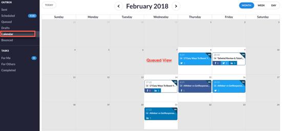 Calendar Queued