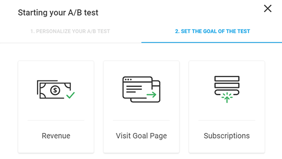 Set Goal Of Your Test
