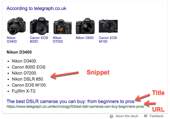 2 DSLR Camera Featured Snippet 1
