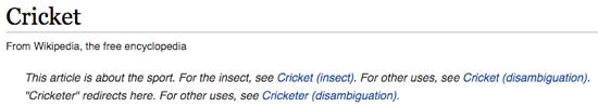6a Wiki Cricket