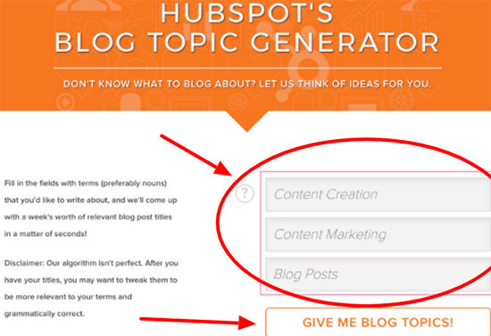 Blog Topic Generators Hubspot
