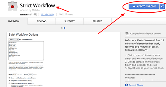 Click Add To Chrome