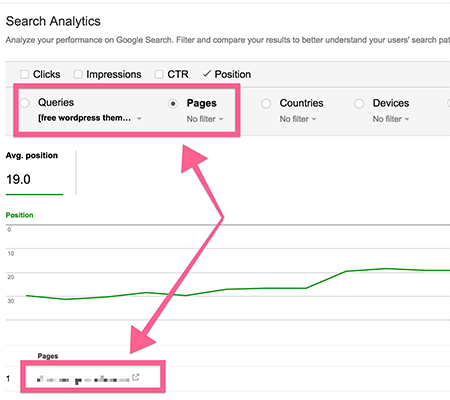 Google Search Console Pages