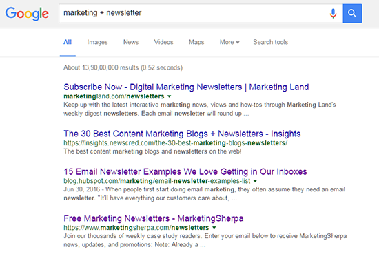 Niche Newsletter Search