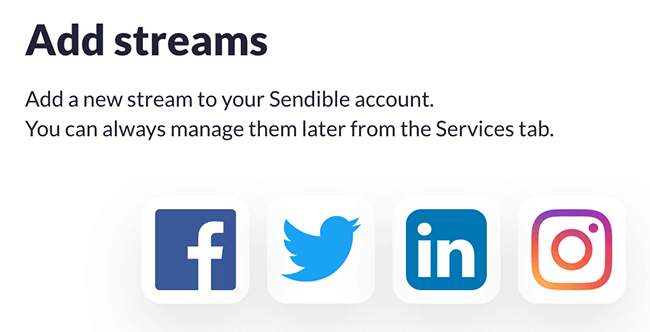 Select social network to add streaming