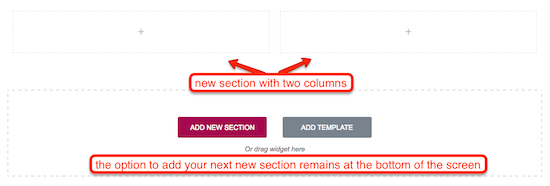 1d New Section With Columns