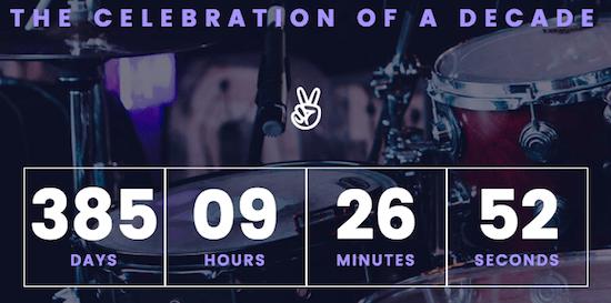 2f Countdown Widget