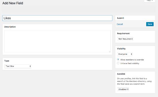 Adding New Profile Fields
