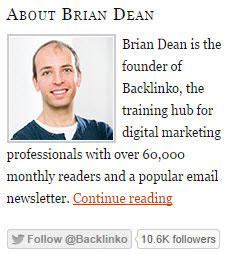 Brian Dean Twitter Example