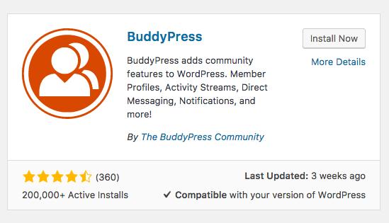 BuddyPress Install