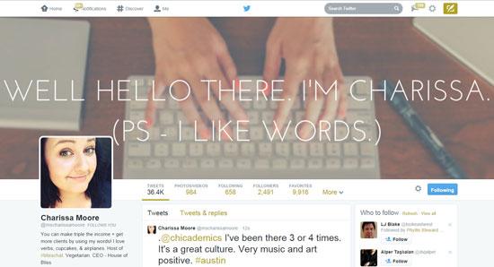 Charissa Moore Twitter Example