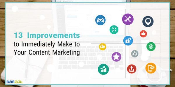 content marketing improvements