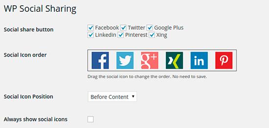 WP Social Sharing