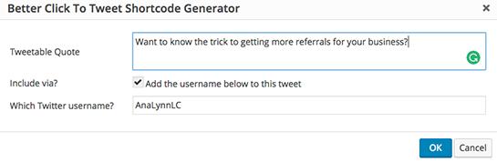 Better Click To Tweet generator