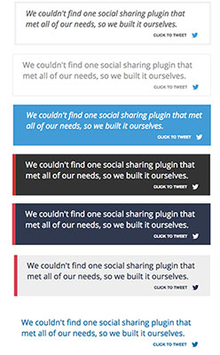 Click To Tweet Buttons Social Warfare Color Scheme