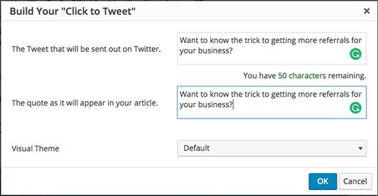 Click To Tweet SW Generator