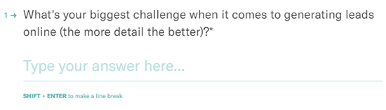 Biggest Challenge Survey Question