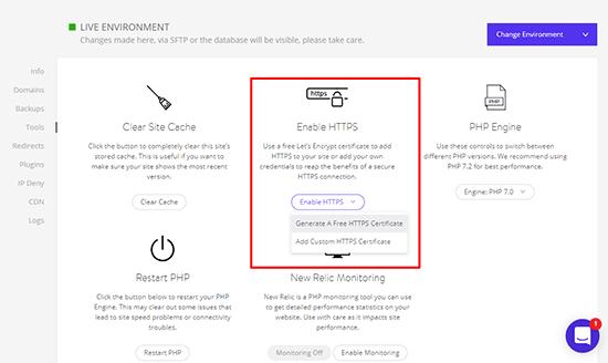 Kinsta Free SSL