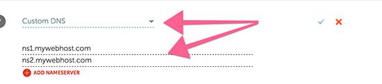 Custom DNS Details