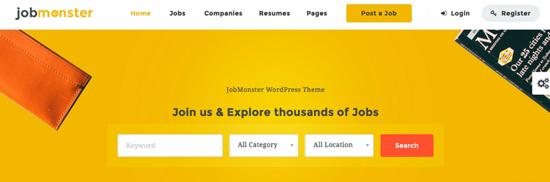 Jobmonster homepage