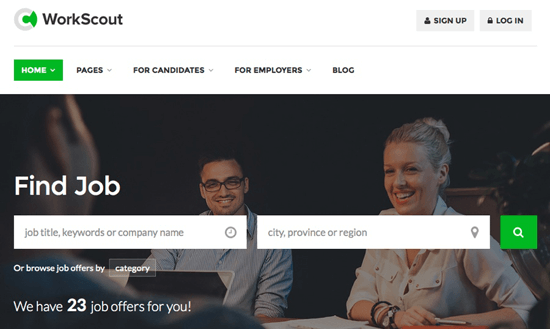 WorkScout homepage