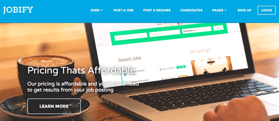 jobify homepage