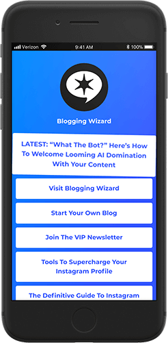 Shorby Blogging Wizard Example