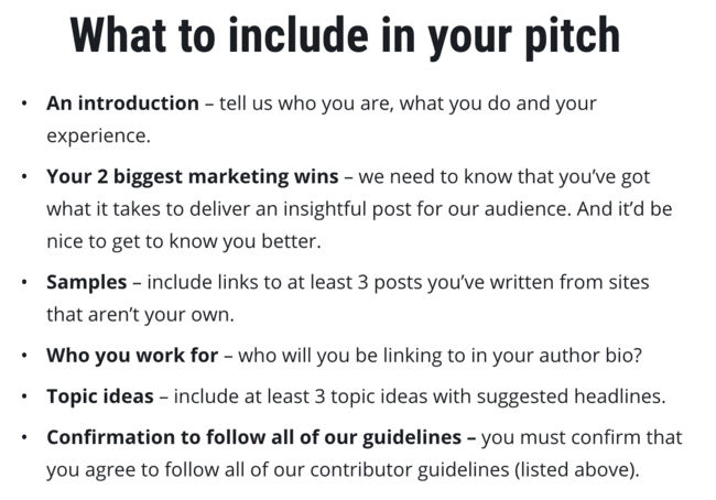 What To Include In Your Pitch Section
