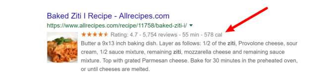 02 Rich Snippet Baked Ziti Recipe Example