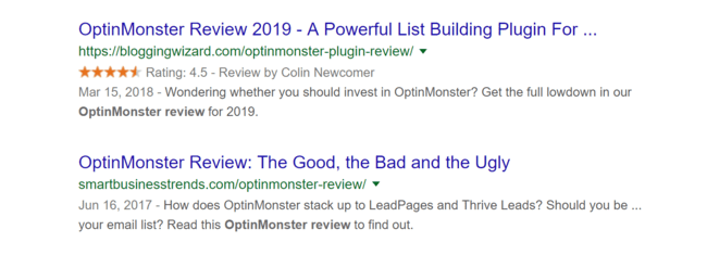 03 Rich Snippet Star Rating Stand Out In Search Results