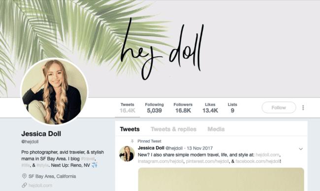 Hej Doll on social media