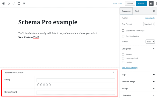 18 Schema Pro Added Fields Example
