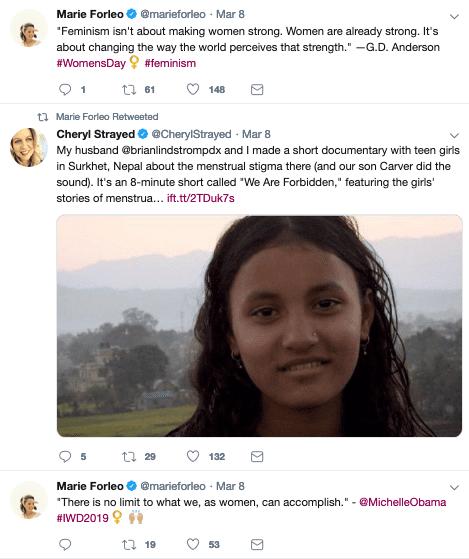 Marie Forleo Twitter feed