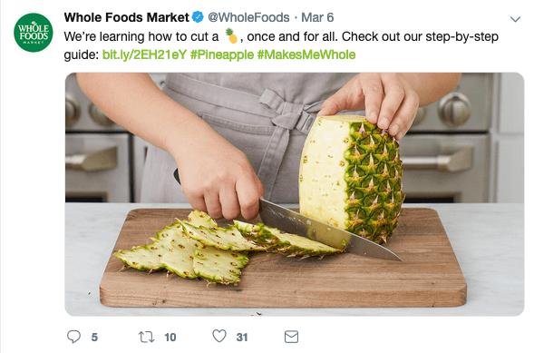 WholeFoods Twitter Feed