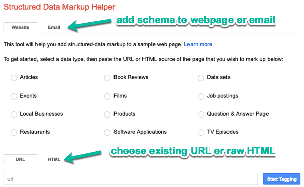 structured data markup helper 1