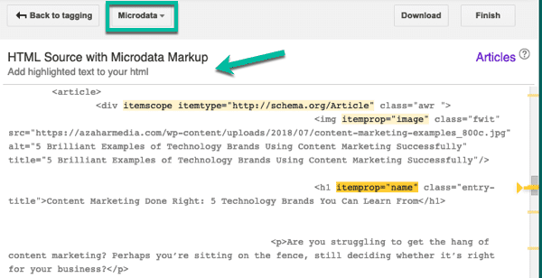 structured data markup helper 12