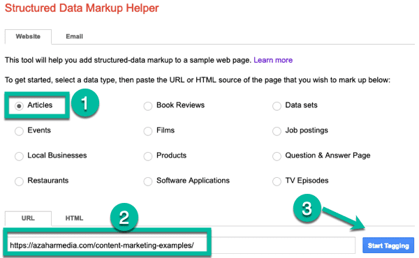 structured data markup helper 2