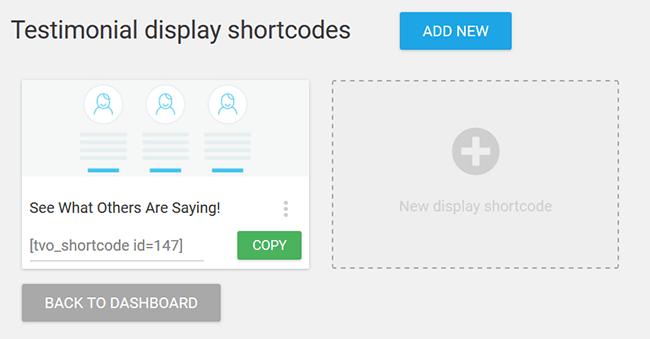 wordpress testimonial display shortcode