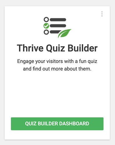 01 Thrive Quiz Builder dashboard