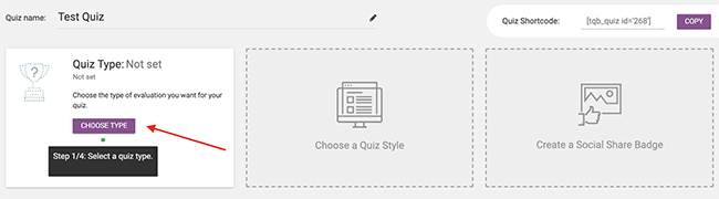 05 Choose your quiz type
