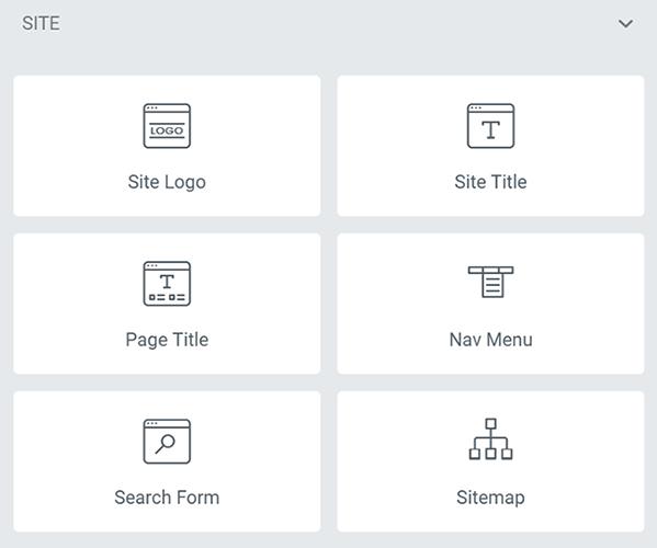 05 Site widgets