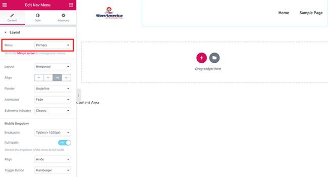 06 Edit navigation menu widget