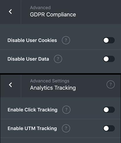 18 Further advanced settings